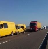 На Рівненщині у ДТП зіткнулись сім автомобілів