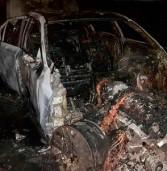 Через несправність газового обладнання автівка згоріла дотла (фото)