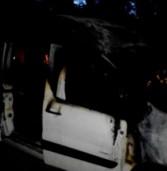 Автомобіль з людьми загорівся на ходу (фото)